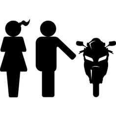 Frau Mann Motorrad - Ein Mann mu� sich zwischen seiner Frau und einen Motorrad entscheiden.