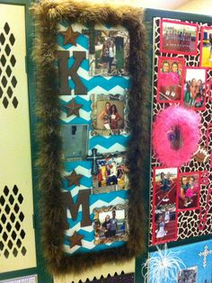 every year for homecoming we decorate our daughters lockers both cheerleaders and drill team - Locker Decoration Ideas