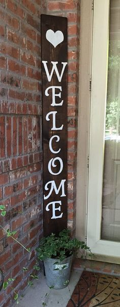 Welcome Sign by SouthernMissies on Etsy                                                                                                                                                     More