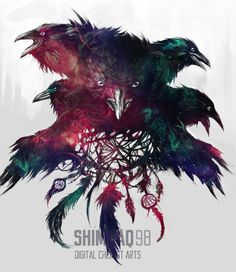 Murder of crows by shimhaq98.deviantart.com on @DeviantArt