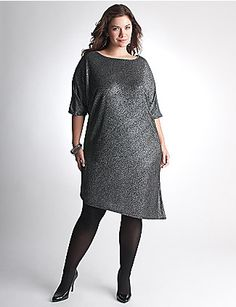 Sexy sparkle dress is ready to party with a modern dolman silhouette and  asymmetric hem. Make an entrance in this eye-catching number, detailed with short sleeves and a boat neckline. Fully lined. sonsi.com