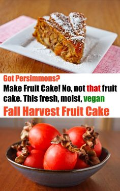 This almost fat-free vegan cake is a fruit cake in the sense that it's almost as much fruit as cake, making it dense and moist and sweet.