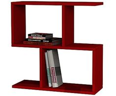 Кофейный столик Homemania - ДСП - красный, 60x60x20 см