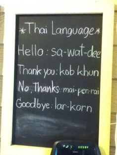 Photo of the Day: Thai Language Basics