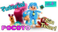 ♥ Tutorial: Pocoyo de gomitas (sin telar) ♥