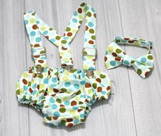 Suspender  Bow Tie and Diaper cover Set by SewEcstaticBoutique, $42.00