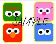 Downloadable DIY Sesame Street Character by WereGoingTogether, $10.00
