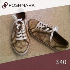 Coach shoes Gold and tan size 8! Coach Shoes Sneakers