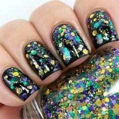 Mardi Gras / Fat Tuesday Manicure!