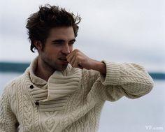 aran. sweater. Robert Pattinson. :)