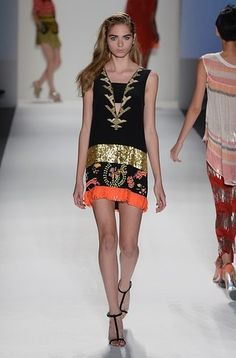 Embellished mini dress, Tracy Reese Spring 2013