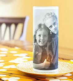 #DIY Photo Candle Holder + More Easy to Make #Family Keepsakes - #ParentsCrafts