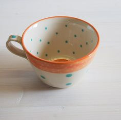 Hey, I found this really awesome Etsy listing at https://www.etsy.com/listing/174852473/large-ceramic-coffee-cup-pottery-tea super cute coffee mug, coffee cup, etsy item, funny, beautiful, original, unique, fun idea