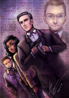 Person of Interest - amusing fanart :D I would love to see such a version of Root. :3