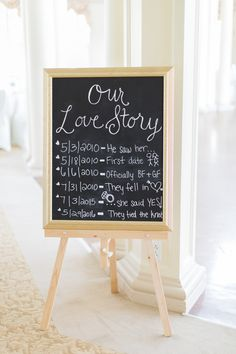 Chalkboard wedding sign idea