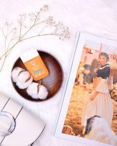 """Oana Alexandra on Instagram: """"But first, skincare! Azi am introdus în rutina de dimineață crema cu spf de la @vichyromania, iar prima impresie nu este deloc rea!…"""" Vichy Spf Cream #vichy #spf #cream #skincare #setup #flatlay #cotton #cosmopolitanromania Cosmopolitan, Polaroid Film, Beauty, Instagram, Gingham, Beauty Illustration"""