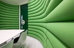 Google Central Saint Giles HQ by PENSON. Tags: workspace, office, submarine door, meeting room, creative, quirky wall finish, green, bold colours, commercial interior design, creative