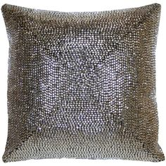 I pinned this Zoila Pillow in Silver from the Shine On event at Joss and Main!