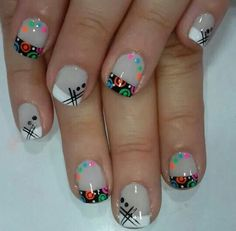 Uñas Funky Nail Designs, Shellac Nail Designs, Toe Nail Designs, Fall Nail Designs, Nail Manicure, Colorful Nail Art, Geometric Nail Art, Cool Nail Art, Get Nails