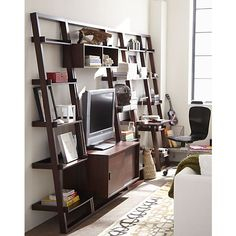 Sloane Java Bookcase, Desk and Media Collection | Crate and Barrel