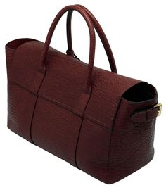 New Mulberry Bayswater Buckle Tote In Oxblood Shrunken Leather
