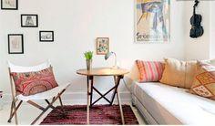 Dormitorio de estilo danés. http://www.decoandliving.com/2014/01/escapada-copenhague-en-un-piso-bohemio.html