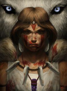 Princess Mononoke by ~cathyrox on deviantART  (http://cathyrox.deviantart.com/art/Princess-Mononoke-309907081#)
