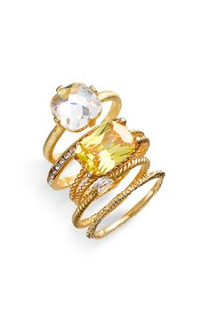 Ariella Collection Stackable Rings (Set of 5) $68.00 #rings