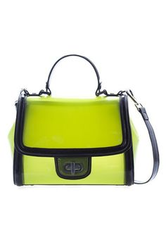 Fluorescence Candy Colored Shoulder Bag with Cross Lock