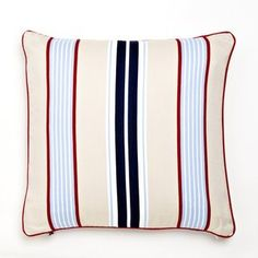 Whistle and Wink Cars and Trucks Preppy Stripe Pillow