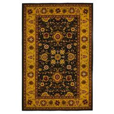 New Traditional Oriental Area Rug 5 feet x 8 feet , Gold, Black, carpet.