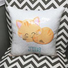 The Amazing BRUSH SEQUIN T-SHIRT Reversible KITTY CAT UNICORN Girls Top Present