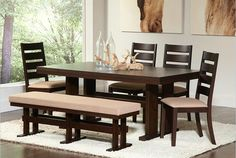 Dining Room Table with Bench Seating Pictures