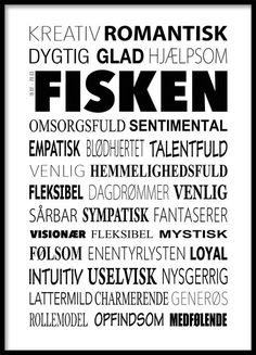 Fisken Plakat - Tekstcollage med stikord Funny Pictures, Wall Decor Quotes, Life Thoughts, Heart Quotes, Word Of The Day, Good To Know, Paper Cutting, Pisces