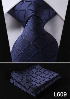 Pocket Square Classic Party Wedding Hot Sale Dot Paisley Men Neckties Woven Silk Wedding Tie Handkerchief Set #L6