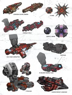 Art of Fall of Cybertron, Weapons