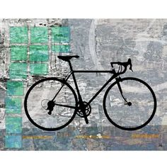 Green Leaf Art 'Sport Bicycle' Wall Art (10,850 INR) found on Polyvore featuring home, home decor, wall art, backgrounds, art, pictures, bicycle, grey, abstract picture and silhouette picture