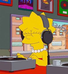 Lisa Simpson - The Simpsons Cartoon Icons, Cartoon Memes, Cartoons, The Simpsons, Simpsons Springfield, Simpson Tumblr, Vinyl Junkies, Cartoon Profile Pictures, Reaction Pictures