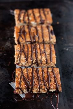 paleo granola bars- this person uses peanut butter, hopefully almond butter will do the trick. If I had the coconut id make it now! Wheat Free Recipes, Healthy Gluten Free Recipes, Paleo Treats, Healthy Snacks, Kid Snacks, Paleo Food, Eat Healthy, Yummy Recipes, Paleo Granola Bars