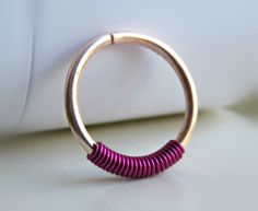 Rose Gold Nose Ring  Rose Gold Septum Ring  by LarryJewelryShop