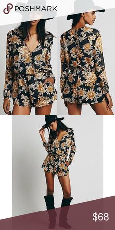 Free People Float Away Romper • brand: free people  • condition: new without tags  • size: small  • description: button closures on back, light chiffon material  bundle to save! no trades/holds/try-ons. no price negotiations in the comments.  ✨happy shopping!✨ Free People Pants Jumpsuits & Rompers