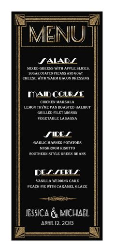 customized menu