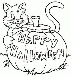 50 Best Happy Halloween Coloring Pages Free Download 2018 Images On