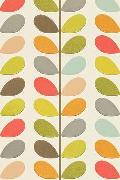 Orla Kiely Multi Stem - Wallpaper Ideas & Designs - Living Room & Bedroom (houseandgarden.co.uk)