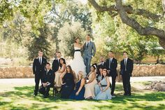 Gorgeous group shot. Bridesmaids in Dessy and Landa Designs.  http://www.shopjoielle.com/shop/ Photo Credit: Beth Armsheimer Photography