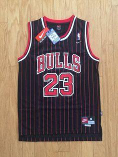 8d57c4cedec4d0 Men Chicago Bulls 23 Michael Jordan Jersey Black Red Fanatics