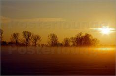 Landschafts Idyll im Nebel Bilder: Poster von Tanja Riedel bei Posterlounge.de