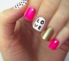 How to Paint Love Nails