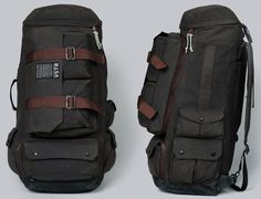VSTR and Partners & Spade ::    The Nomadic Pack stashes a hideaway hammock and detachable messenger bag