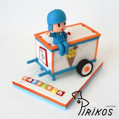 Pirikos in the Kitchen: Cake - Pocoyo and his ice cream cart